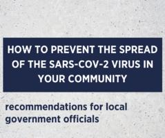 Recommendations for local government officials on preventing the spread of the SARS-CoV-2 virus and other infectious diseases in their communities. | ARC.UA
